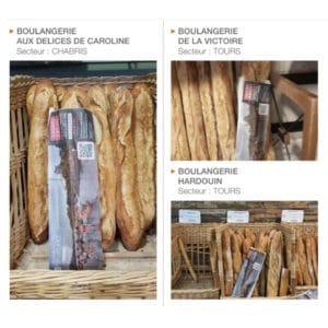 QR-code sur des sacs de pain